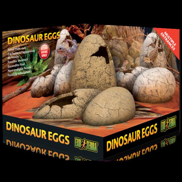 Dekorace EXO TERRA Dinosaur eggs 16 x 16 cm