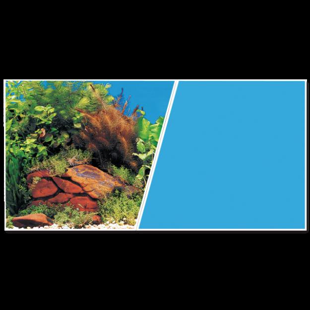 Pozadí MARINA tapeta oboustranné rostliny / modré 760 x 45 cm 7,6m