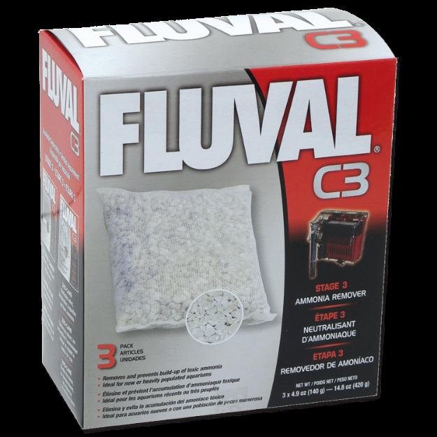 Obrázek Náplň sáčky pro odstranění amoniaku FLUVAL C3 3ks