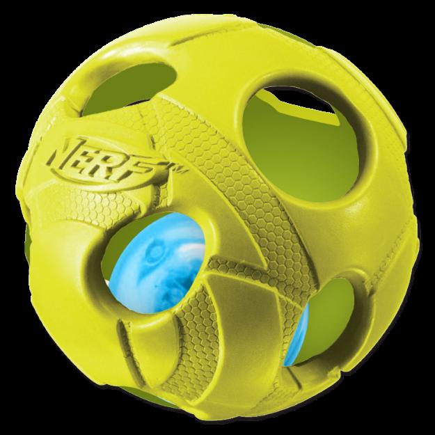 Obrázek Hračka NERF gumový míček LED 8 cm